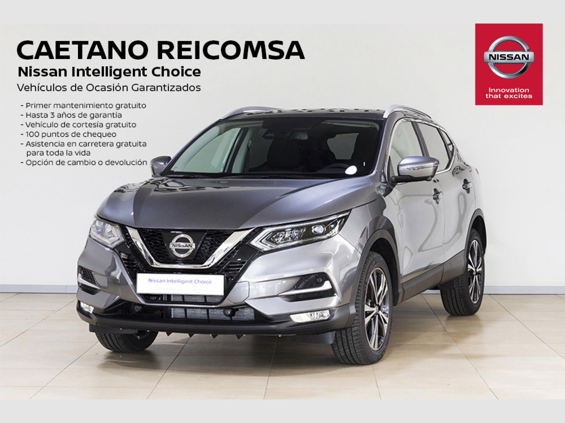 Nissan Qashqai dCi 85 kW (115 CV) E6D DCT N-CONNECTA + TECHO/BARRAS + LED segunda mano Madrid